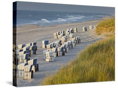 Beach Chairs on the Beach Close Kampen (Municipality), Sylt (Island), Schleswig-Holstein, Germany-Rainer Mirau-Stretched Canvas Print