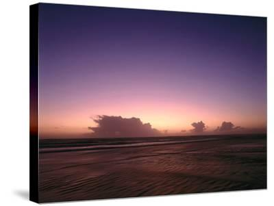 Meer, Abendstimmung, Abend, Abendlicht, Abenddv¤Mmerung, Dv¤Mmerung, Abendrot-Thonig-Stretched Canvas Print
