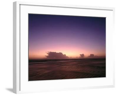Meer, Abendstimmung, Abend, Abendlicht, Abenddv¤Mmerung, Dv¤Mmerung, Abendrot-Thonig-Framed Photographic Print