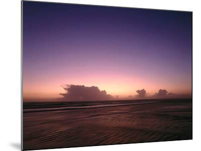 Meer, Abendstimmung, Abend, Abendlicht, Abenddv¤Mmerung, Dv¤Mmerung, Abendrot-Thonig-Mounted Photographic Print