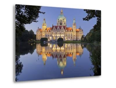 New Town Hall, Maschteich, Machpark, Hanover, Lower Saxony, Germany-Rainer Mirau-Metal Print