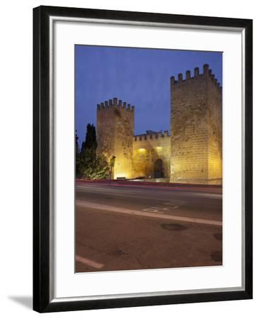 Castle Gate in Alcœdia, in the Evening, Majorca, Spain-Rainer Mirau-Framed Photographic Print