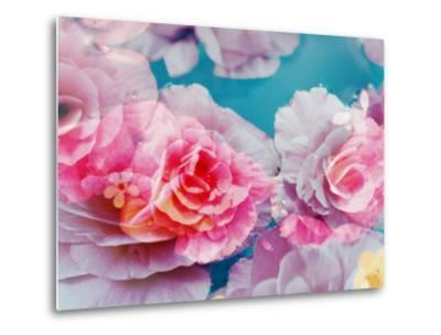 Photographic Layer Work from Blossoms in Water-Alaya Gadeh-Metal Print