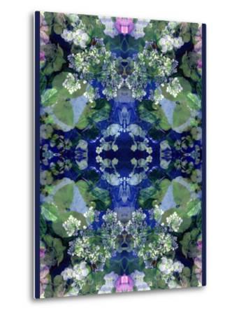 Symmetric Ornament from Flowers-Alaya Gadeh-Metal Print