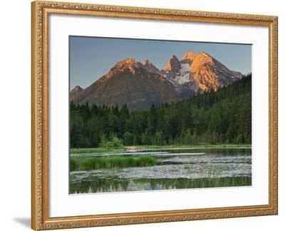 Pigeon Lake, Cold for High, Berchtesgadener Land District, Bavaria, Germany-Rainer Mirau-Framed Photographic Print
