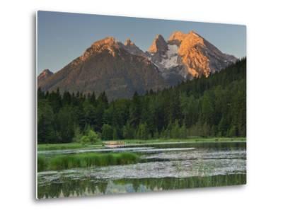 Pigeon Lake, Cold for High, Berchtesgadener Land District, Bavaria, Germany-Rainer Mirau-Metal Print
