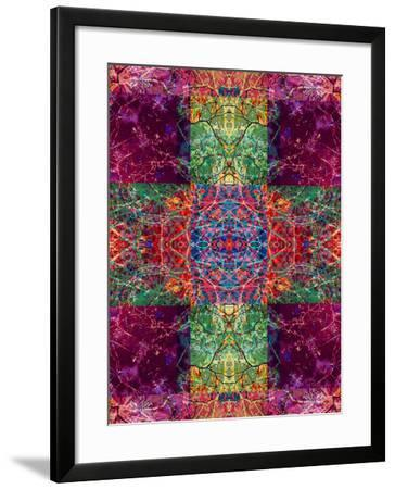 Photographic Layer Work Ornament from Trees Multicolor-Alaya Gadeh-Framed Photographic Print
