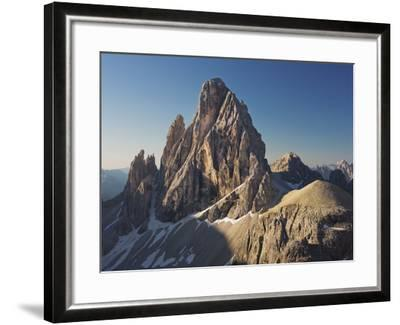 Zwšlferkofel, North Face, South Tyrol, the Dolomites Mountains, Italy-Rainer Mirau-Framed Photographic Print