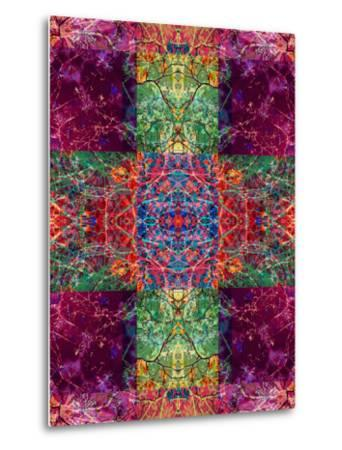 Photographic Layer Work Ornament from Trees Multicolor-Alaya Gadeh-Metal Print