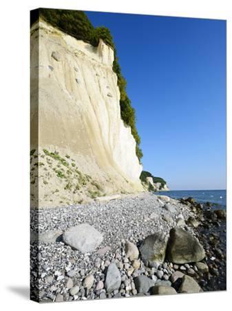 Chalk Rocks, National Park Jasmund, Island RŸgen, Mecklenburg-West Pomerania, Germany-Andreas Vitting-Stretched Canvas Print