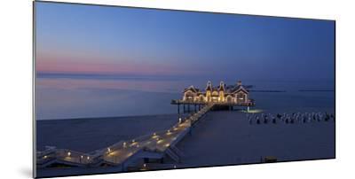 Europe, Germany, Mecklenburg-Western Pomerania, Baltic Sea Island, RŸgen, Sellin, Pier, Dusk-Chris Seba-Mounted Photographic Print