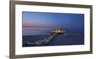 Europe, Germany, Mecklenburg-Western Pomerania, Baltic Sea Island, RŸgen, Sellin, Pier, Dusk-Chris Seba-Framed Photographic Print