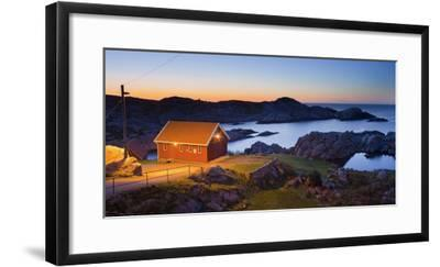 Norway, Vest Adger, Houses, Coast, Dusk-Rainer Mirau-Framed Photographic Print