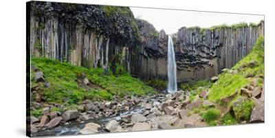 Panorama, Skaftafell National Park, Svartifoss-Catharina Lux-Stretched Canvas Print