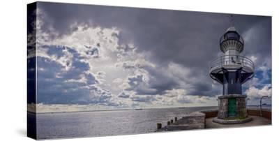 Germany, Schleswig - Holstein, Brunsb?ttel (Town), Lock, Lighthouse, Mole 1 (Jetty)-Ingo Boelter-Stretched Canvas Print