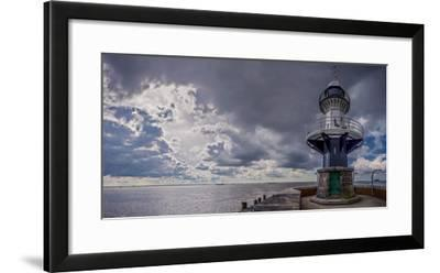 Germany, Schleswig - Holstein, Brunsb?ttel (Town), Lock, Lighthouse, Mole 1 (Jetty)-Ingo Boelter-Framed Photographic Print