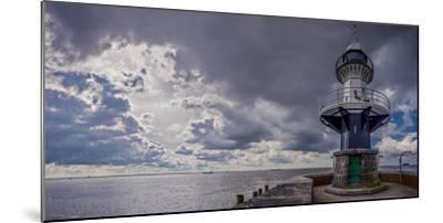 Germany, Schleswig - Holstein, Brunsb?ttel (Town), Lock, Lighthouse, Mole 1 (Jetty)-Ingo Boelter-Mounted Photographic Print