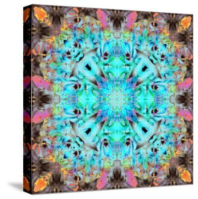 A Mandala Ornament from Flowers, Photograph, Many Layer Artwork-Alaya Gadeh-Stretched Canvas Print