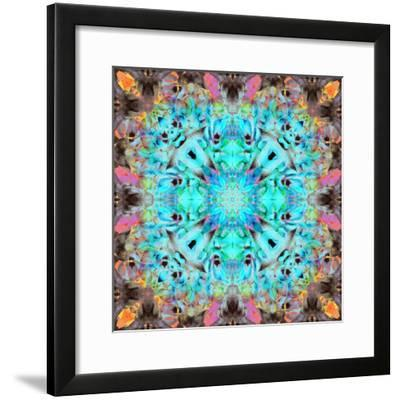 A Mandala Ornament from Flowers, Photograph, Many Layer Artwork-Alaya Gadeh-Framed Photographic Print