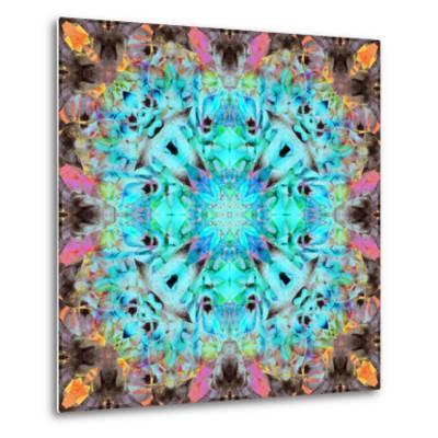 A Mandala Ornament from Flowers, Photograph, Many Layer Artwork-Alaya Gadeh-Metal Print