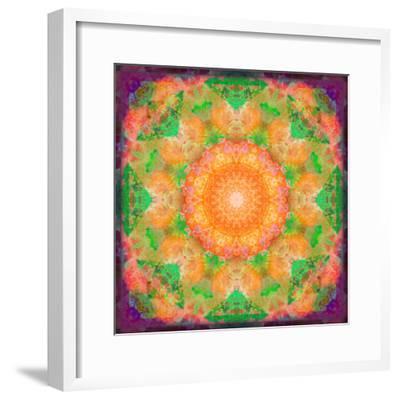 A Many Layered Flower Mandala-Alaya Gadeh-Framed Photographic Print