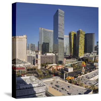 City Center Place, Veer Towers, Aria Resort, Strip, South Las Vegas Boulevard-Rainer Mirau-Stretched Canvas Print