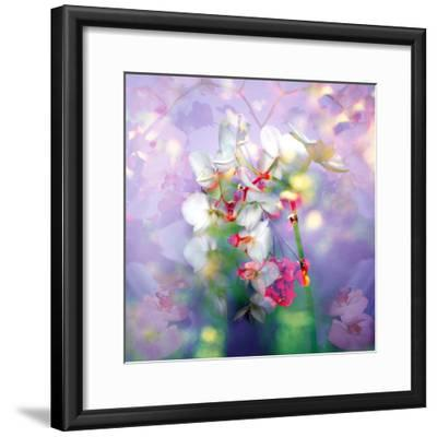 White Orchids in a Vase with Dreamy Texture-Alaya Gadeh-Framed Photographic Print