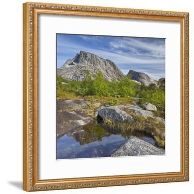 Norway, Northern Country, Lofoten, Ballangen, Saetran, Efjorden, Huglhornet-Rainer Mirau-Framed Photographic Print