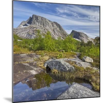 Norway, Northern Country, Lofoten, Ballangen, Saetran, Efjorden, Huglhornet-Rainer Mirau-Mounted Photographic Print