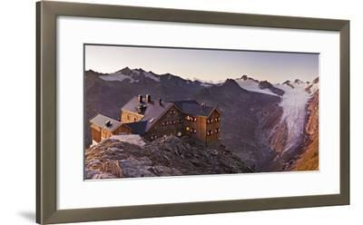 Austria, Tyrol, …tztaler Alps, Ramolhaus, Mountain Hut-Rainer Mirau-Framed Photographic Print