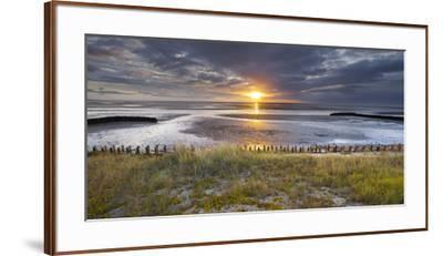 Sunrise in the Mudflat, Close to List (Municipality), Sylt (Island), Schleswig-Holstein, Germany-Rainer Mirau-Framed Premium Photographic Print