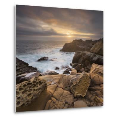 Sandstone, Salt Point State Park, Sonoma Coast, California, Usa-Rainer Mirau-Metal Print