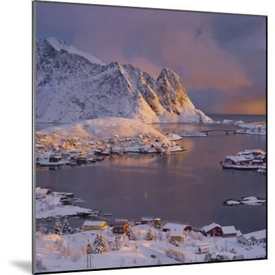 Reine' (Village), Lilandstinden, Moskenesoya (Island), Lofoten, 'Nordland' (County), Norway-Rainer Mirau-Mounted Photographic Print
