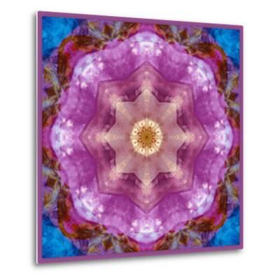 Symmetric Layer Work from Flowers Photographs-Alaya Gadeh-Metal Print