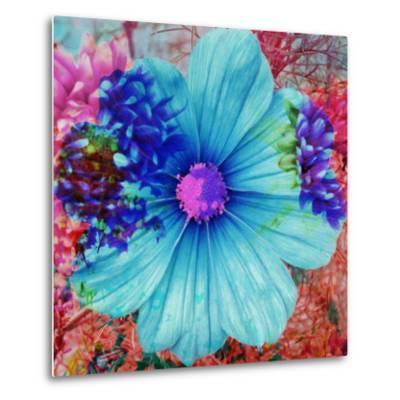 Composing with Blue Flowers-Alaya Gadeh-Metal Print