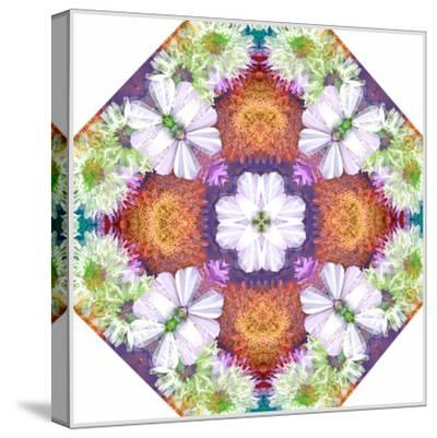 Ornamental Rhomb from Flowers-Alaya Gadeh-Stretched Canvas Print