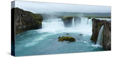 Panorama, Godafoss-Catharina Lux-Stretched Canvas Print