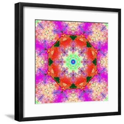 A Mandala Ornament from Flower Photographs, Conceptual Layer Work-Alaya Gadeh-Framed Photographic Print