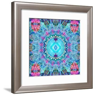 A Blue Water Mandala from Flower Photographs-Alaya Gadeh-Framed Photographic Print