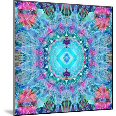 A Blue Water Mandala from Flower Photographs-Alaya Gadeh-Mounted Photographic Print