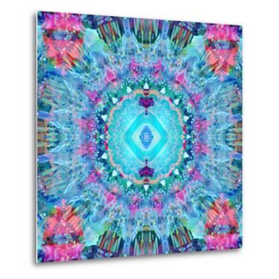 A Blue Water Mandala from Flower Photographs-Alaya Gadeh-Metal Print