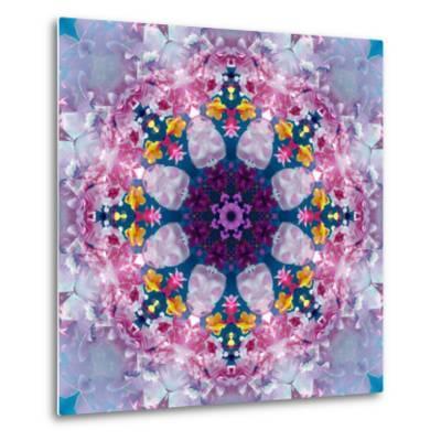 Mandala Ornament from Poeny Blossoms-Alaya Gadeh-Metal Print