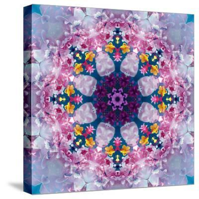 Mandala Ornament from Poeny Blossoms-Alaya Gadeh-Stretched Canvas Print