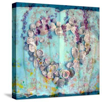 A Floral Montage with Seashells-Alaya Gadeh-Stretched Canvas Print