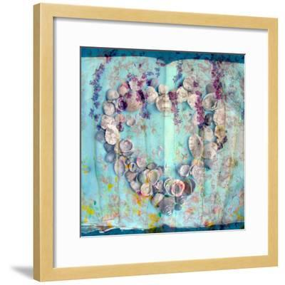 A Floral Montage with Seashells-Alaya Gadeh-Framed Photographic Print