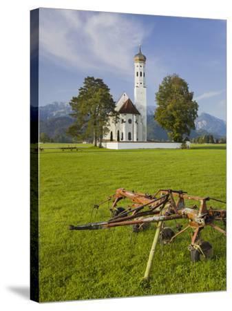 Church St Coloman, FŸssen, AllgŠu, Upper Bavaria, Bavaria, Germany-Rainer Mirau-Stretched Canvas Print