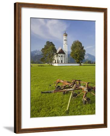 Church St Coloman, FŸssen, AllgŠu, Upper Bavaria, Bavaria, Germany-Rainer Mirau-Framed Photographic Print