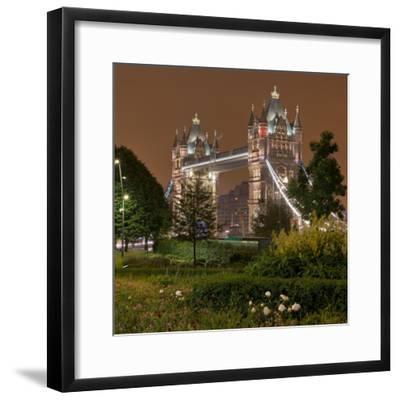 Tower Bridge, in the Evening, London, England, Great Britain-Rainer Mirau-Framed Photographic Print