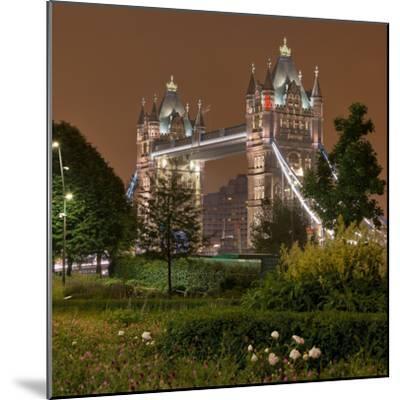 Tower Bridge, in the Evening, London, England, Great Britain-Rainer Mirau-Mounted Photographic Print