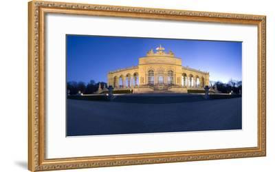 Austria, Vienna, Palace Schšnbrunn, Palace-Park, Gloriette, Buildings, Evening-Mood, Panorama-Rainer Mirau-Framed Photographic Print